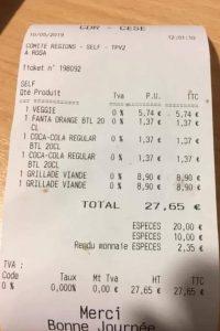Geen BTW in het restaurant van de Europese Commissie, of is dit een foutje? #lovehorecabe #horeca #v
