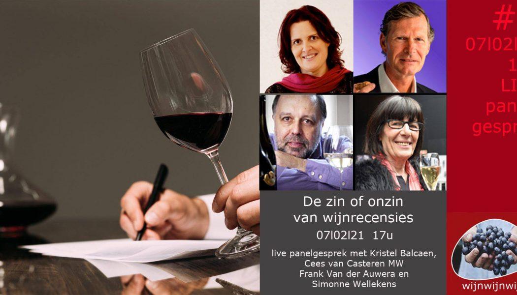 Wijn Wijn Wijn livestream – De zin of onzin van wijnrecensies
