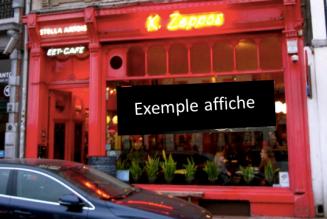 Louez la vitrine de votre café comme espace média/ de visibilité et recevez en échange une contribution financière